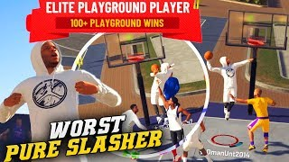 NBA 2K19 Park: The Weakest Pure Slasher - Missing Dunks In A Close Game! Road To 99 Overall Video