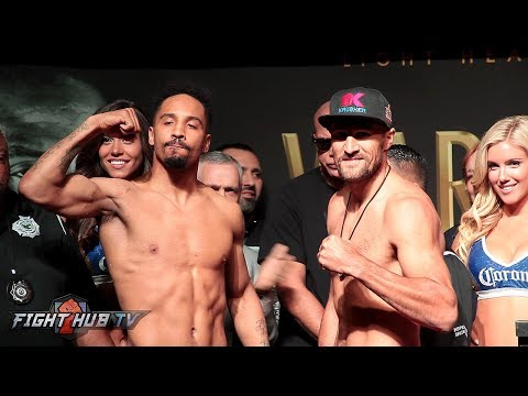 THE COMPLETE & INTENSE ANDRE WARD VS SERGEY KOVALEV 2 WEIGH IN & FACE OFF VIDEO