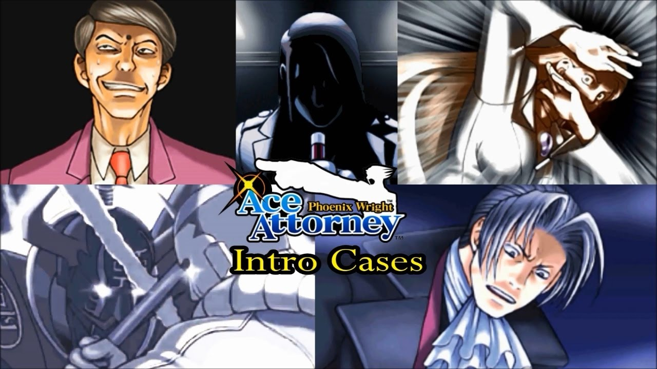 Phoenix Wright Ace Attorney All Intro Cases Youtube