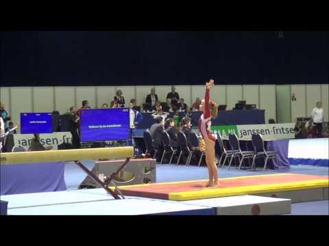 Turnen - Gymnastics: Pleun Reinders toestelfinales bondskampioenschap 21-06-2015 Pupil1 N1