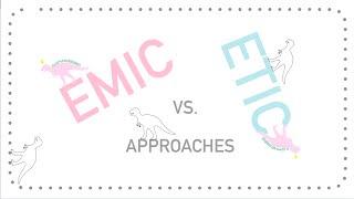 Emic & Etic Concepts