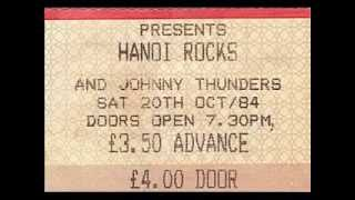 Hanoi Rocks (with Johnny Thunders) - Pills and Gloria. Live at Leeds University, 20th October 1984.