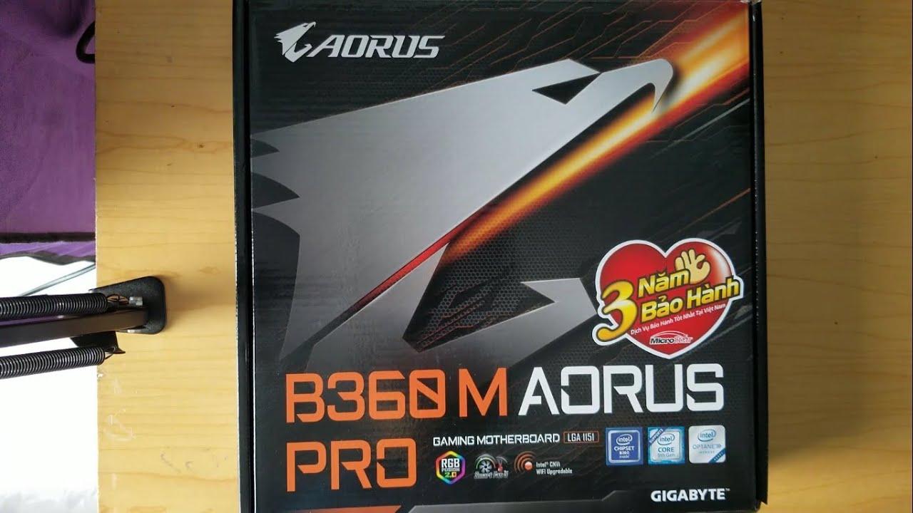 Đập hộp Gigabyte B360m Aorus Pro – Unboxing