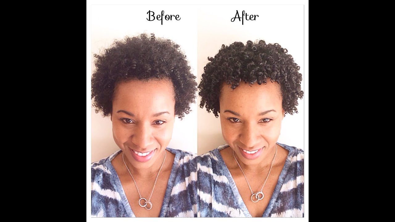 Natural Hair| Wash and go-how to define curls- shingling