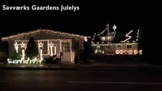 Lille Store Verden af Rasmus Seebach SavværksGaardens Julelys Christmas lights Display 2015