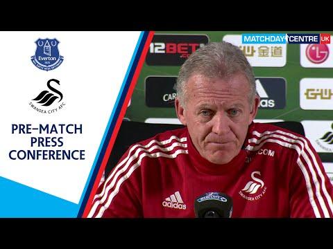 Everton vs Swansea City : Alan Curtis Press Conference
