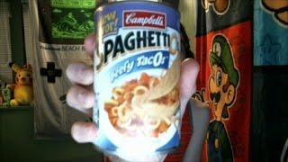Taste Testing - Beefy TacOs SpaghettiOs