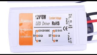 Преобразователь с 220 вольт на 12 вольт с AliExpress(Преобразователь с 220 на 12 вольт - http://ali.pub/6xl4p Драйвер-преобразователь с 220 вольт на 12 вольт с AliExpress за 222 рубля., 2016-04-27T17:21:42.000Z)