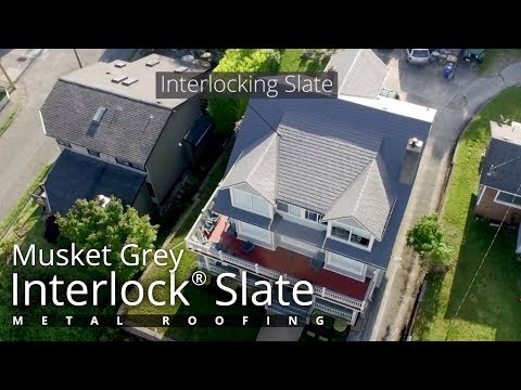 Interlock Metal Roof Aerial Showcase - Seattle, WA
