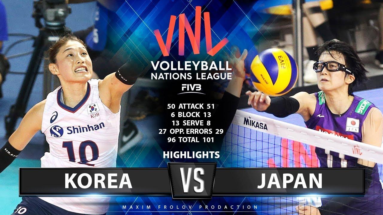 Korea Vs Japan Highlights Women S Vnl 2019 Youtube