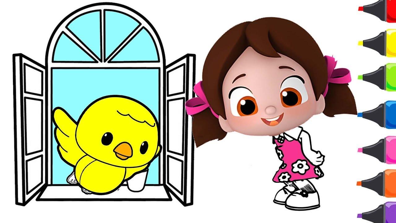 Niloya Mini Mini Bir Kuş çocuk şarkısı Niloya Boyama Renkleri