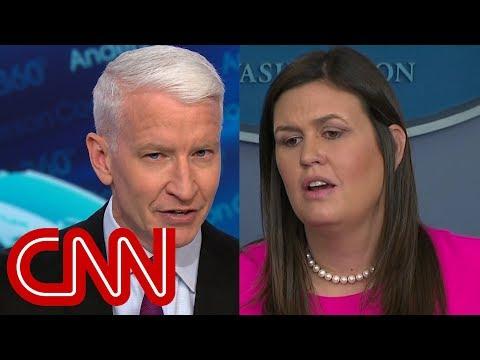 Anderson Cooper calls out Sarah Sanders\' op-ed defense