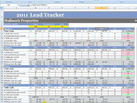 Track potential sales opportunities with this sales lead tracker template. Marketing And Lead Tracker Demo Mp4 Youtube
