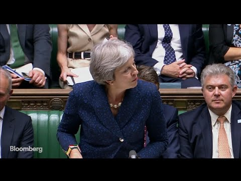 U.K.'s May Speaks in Parliament on Brexit Plan, Corbyn Responds