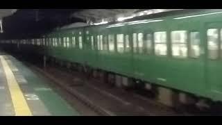 113系普通京都行&サンダーバード通過