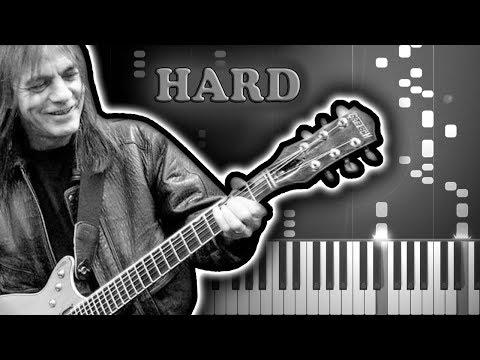AC/DC - BACK IN BLACK - Piano Tutorial