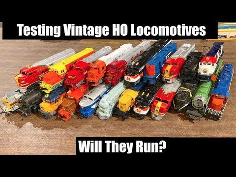Will These Vintage Locomotives from the Mail Run? Testing Locomotives