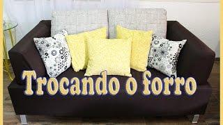 Forrando sofá e fazendo almofadas – DIY
