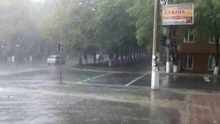 В мариуполе прошел сильнейшей силы дождь!