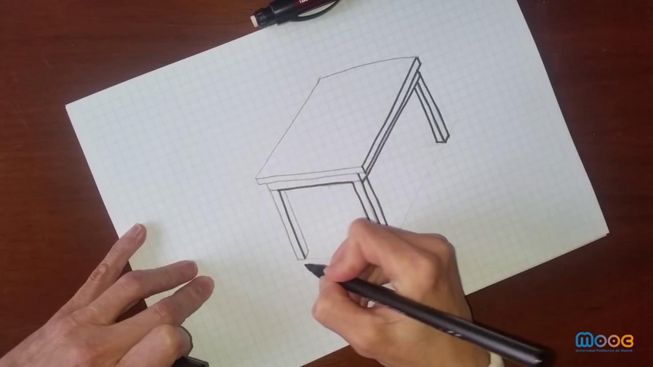 Mooc Visión Espacial Dibujo De Una Mesa
