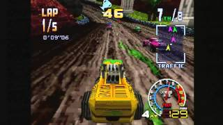 Classic Game Room   BURNING ROAD review for PlayStation