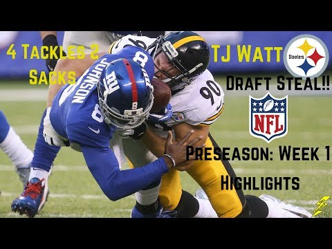 TJ Watt Player Highlights | NFL Debut | Impressive! | 8/11/2017