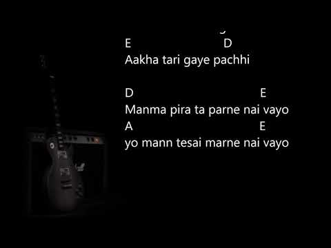 Jati maya laye pani 1974 ADOfficial lyrics video with guitar chordsNepko Music