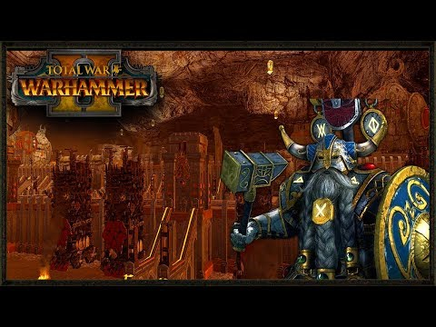 LEGENDARY Dwarf Custom Karak Siege - Total War Warhammer 2 mod gameplay