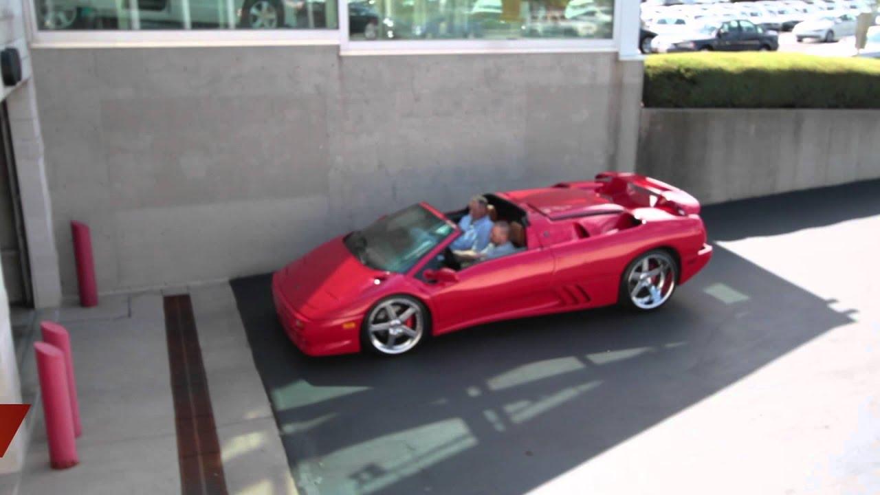 Lamborghini Diablo Spyder In Red Arrives Youtube