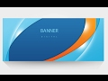 how to make a easy banners : banner design : create free banner in Photoshop
