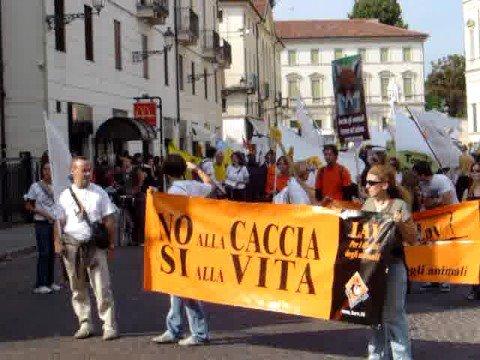 MANIFESTAZIONE ANTI CACCIA - VICENZA 20/09/2008
