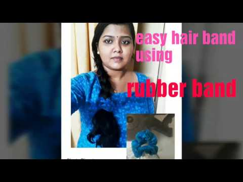 Easy hair band using rubber band