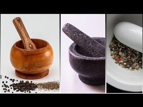 (3D binaural recording) Asmr grinding pepper, herbals, seeds