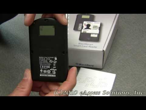 BlackBerry Smart Card Reader video overview and unboxing video