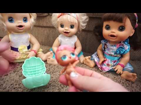 BABY ALIVE Opens LOL SURPRISE DOLL BALLS And Ruins Easter Candy!