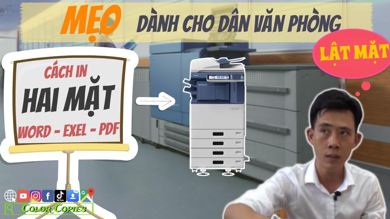 Cách in 2 mặt trong word,exel 2010, pdf | Mẹo cho dân VĂN PHÒNG | Color Copies