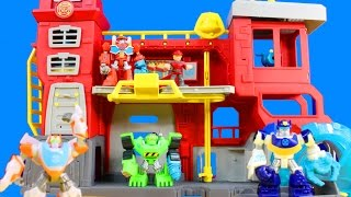 Playskool Heroes Transformers Rescue Bots Griffin Rock Firehouse Headquarters With Cody Burns