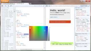 LIVEditor demo - real-time html and css preview Mp3