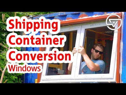 Windows - Shipping Container Conversion - Container Home Office