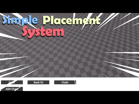 Simple Placement System | Roblox