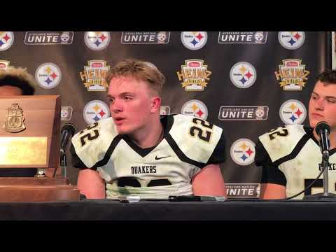 Quaker Valley press conference following WPIAL Football Championship victory
