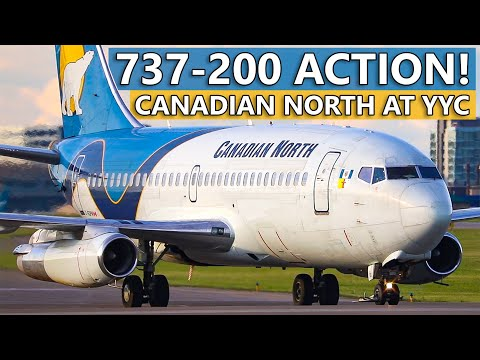LOUD Canadian North Boeing 737-200 Combi In Action At Calgary International Airport!