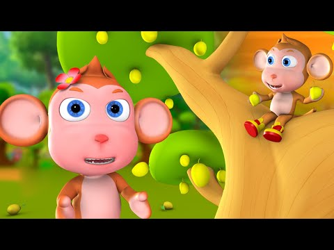 The Learning Baby Monkey 3D Animated Hindi Kids Moral Stories बंदर को सीख हिन्दी कहानी Fairy Tales