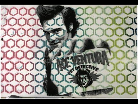 Ace Ventura SkateBoard Stencil