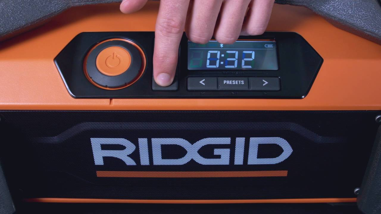 3de774900eb RIDGID® GEN5X Jobsite Radio with Bluetooth Wireless Technology. RIDGID Tools