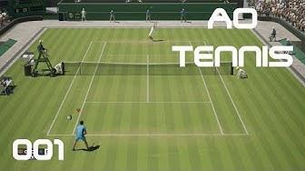 AO Tennis [PS4] #001 - Eine neue Tennis Karriere - Let's Play