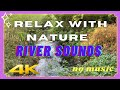 Relaxing River Sound | Relax with Nature | No Music | White Noise | No Looping