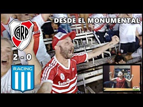 River 2 Racing 0 | Reacciones de un Hincha de River En el Monumental | Superliga fecha 18