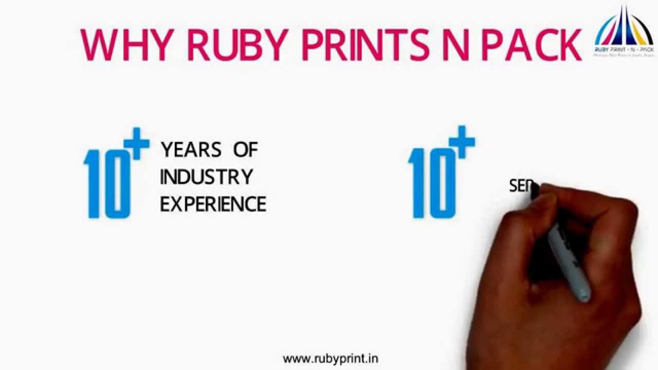 ruby print n pack india s best online printing company youtube
