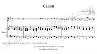 Gambar cover Pachelbel : Canon - Violin and piano